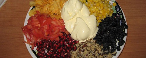 Салат «Радуга» по-новому рецепту